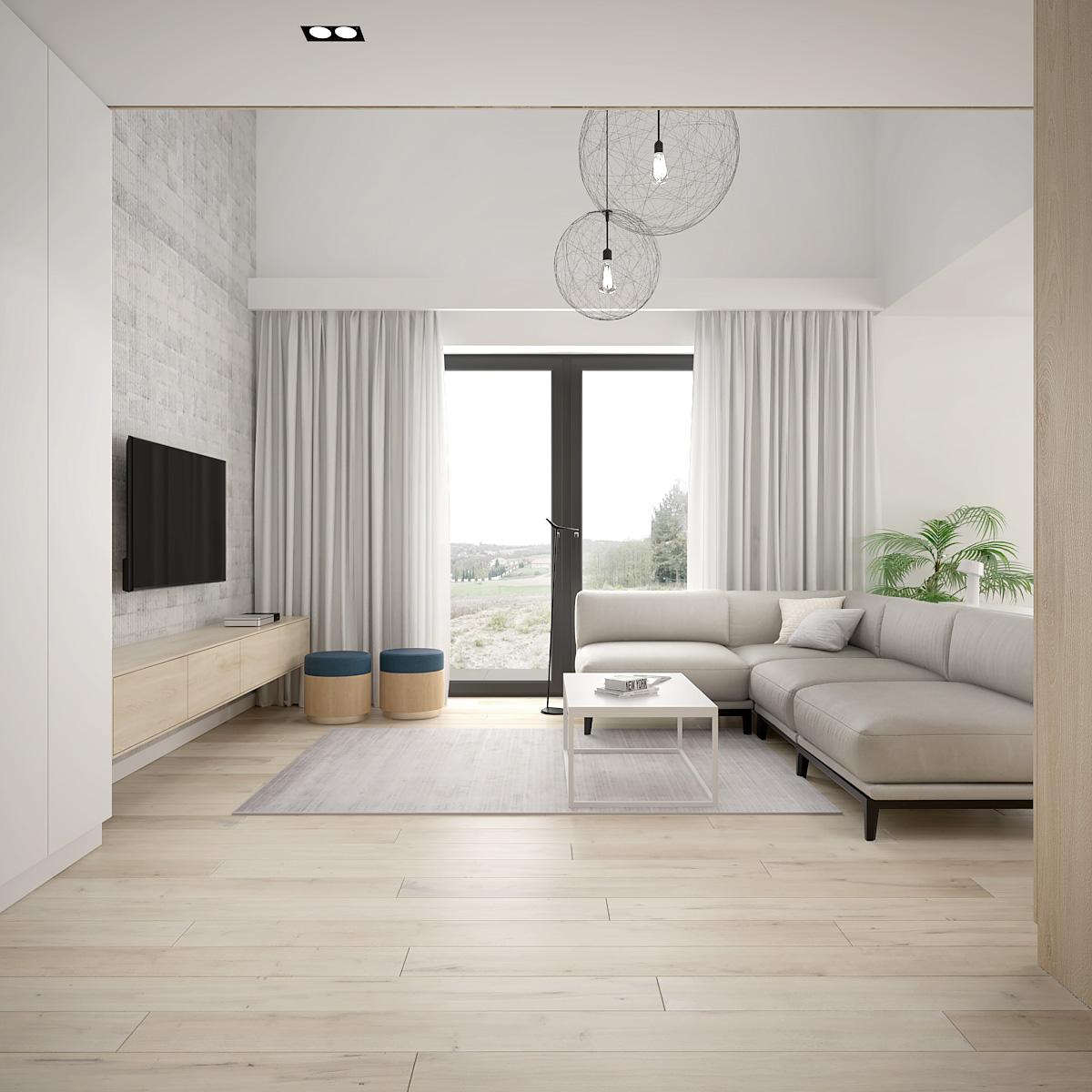3 projekt wnetrza D552 dom krakow nowoczesna sofa