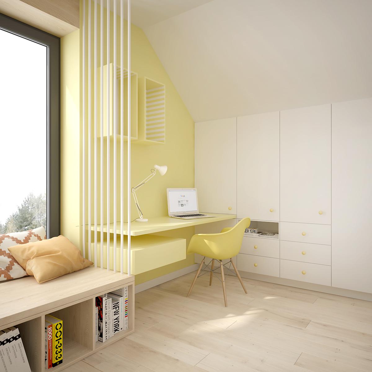 34 projekt wnetrza D552 dom krakow pokoj dziecka miejsce do nauki
