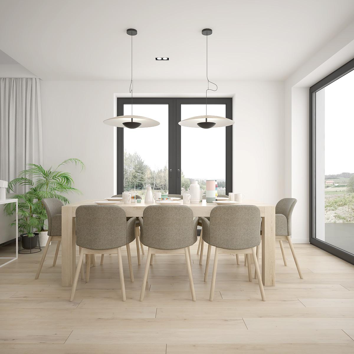 6 projekt wnetrza D552 dom krakow przestronna jadalnia