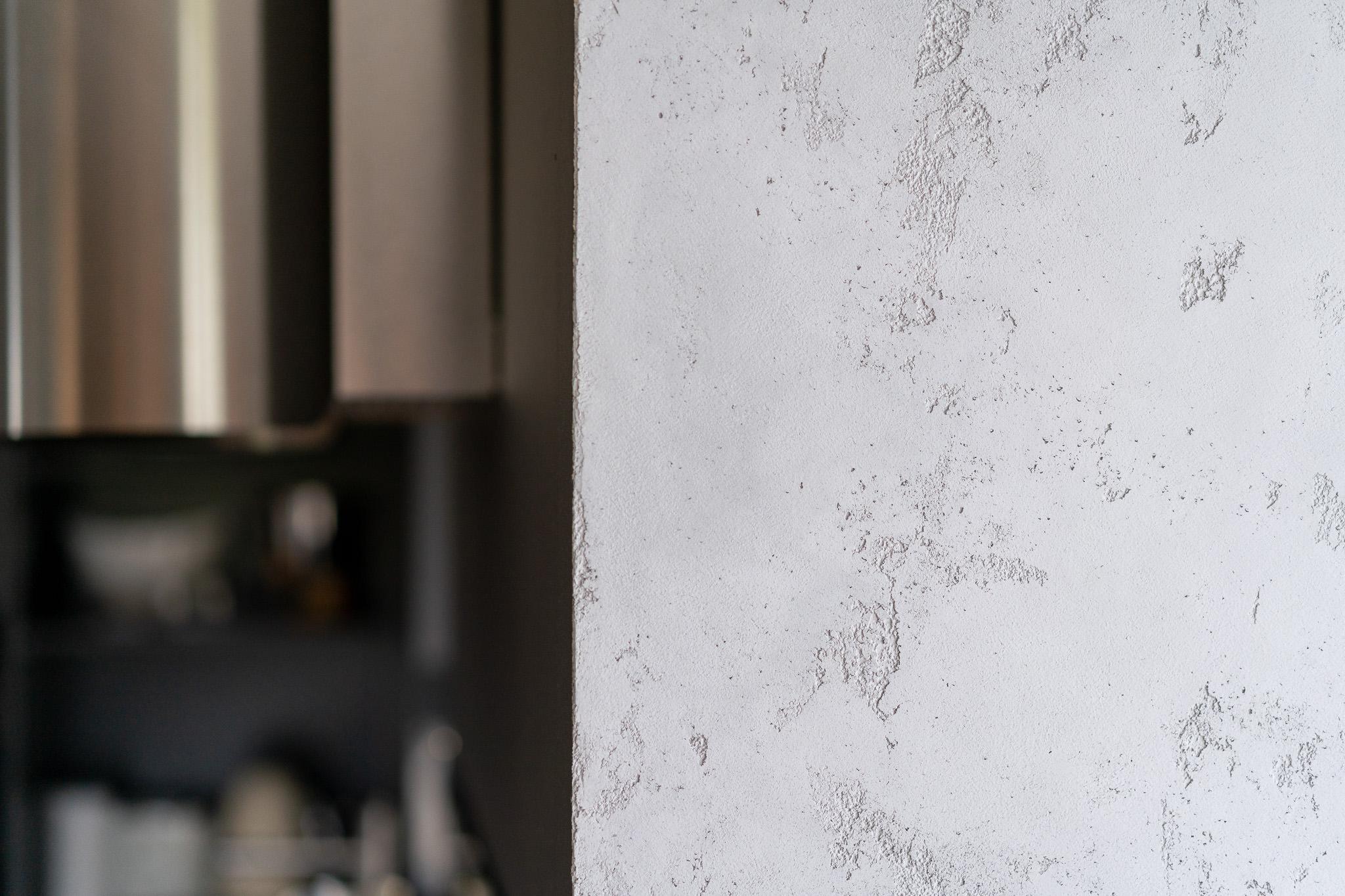 9 projketowanie wnetrz R105 mieszkanie Krakow strefa dzienna beton na scianie